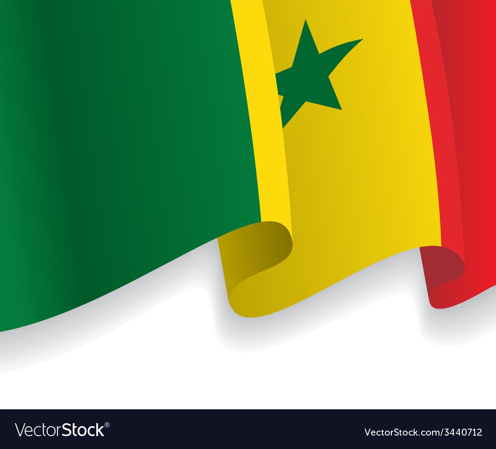 background with waving senegal flag royalty free vector