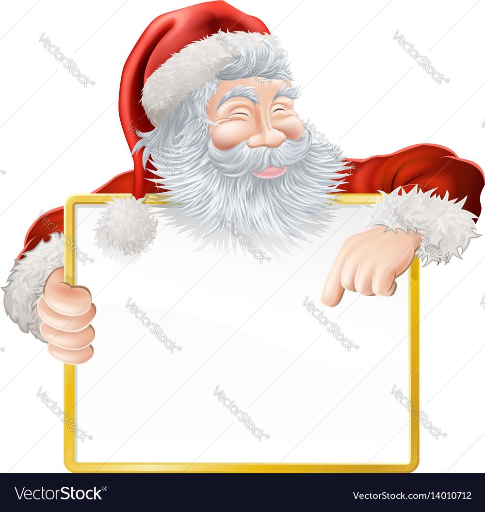 christmas santa claus sign royalty free vector image
