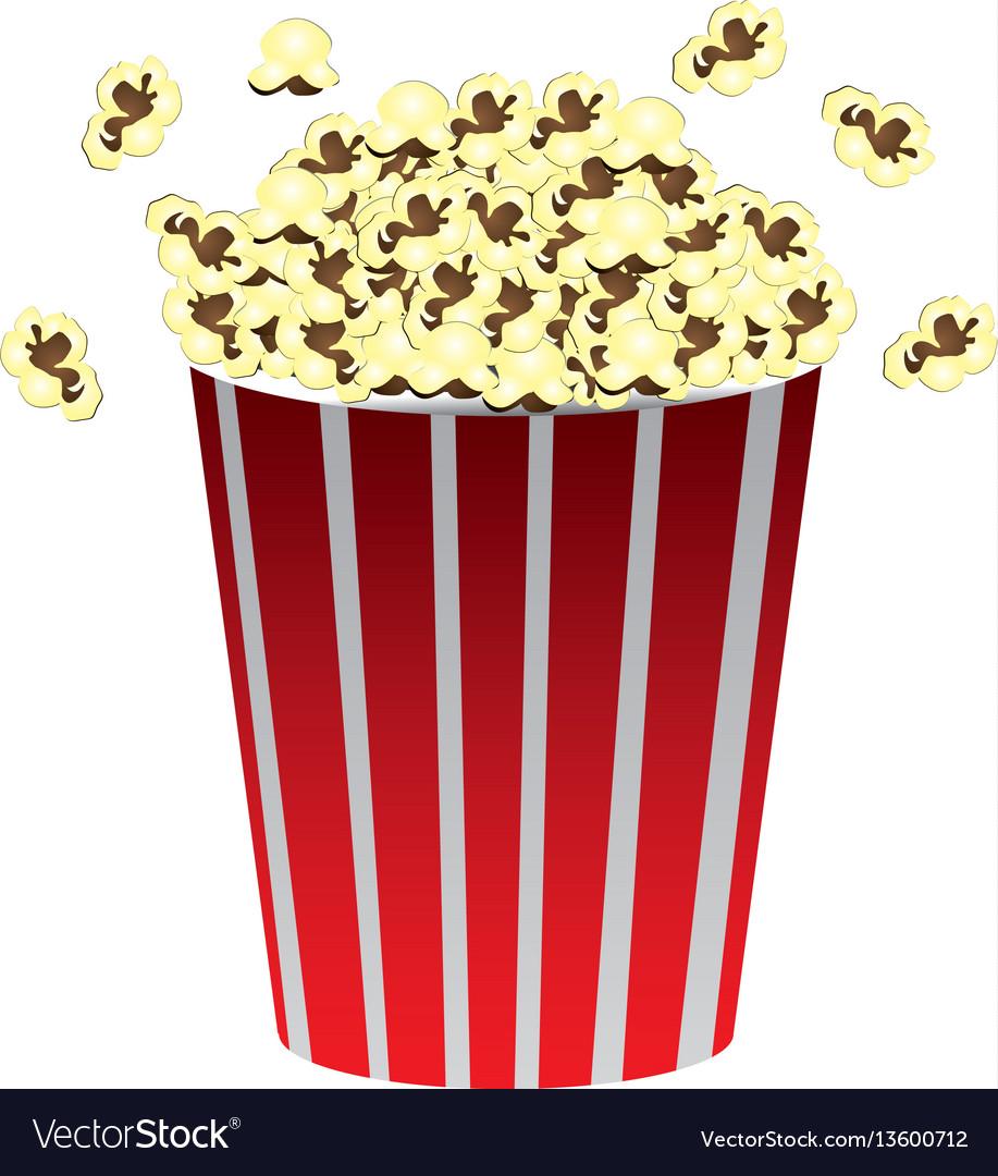 Color movie pop corn icon