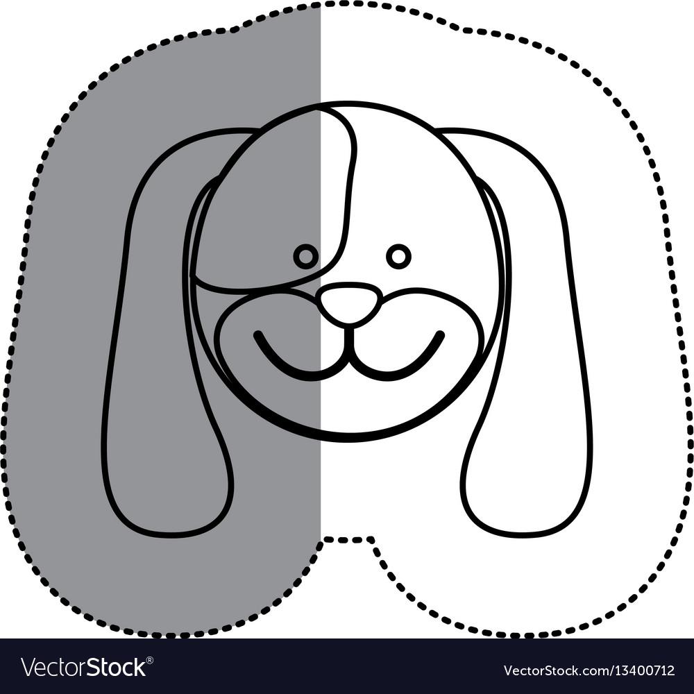 Contour face dog icon