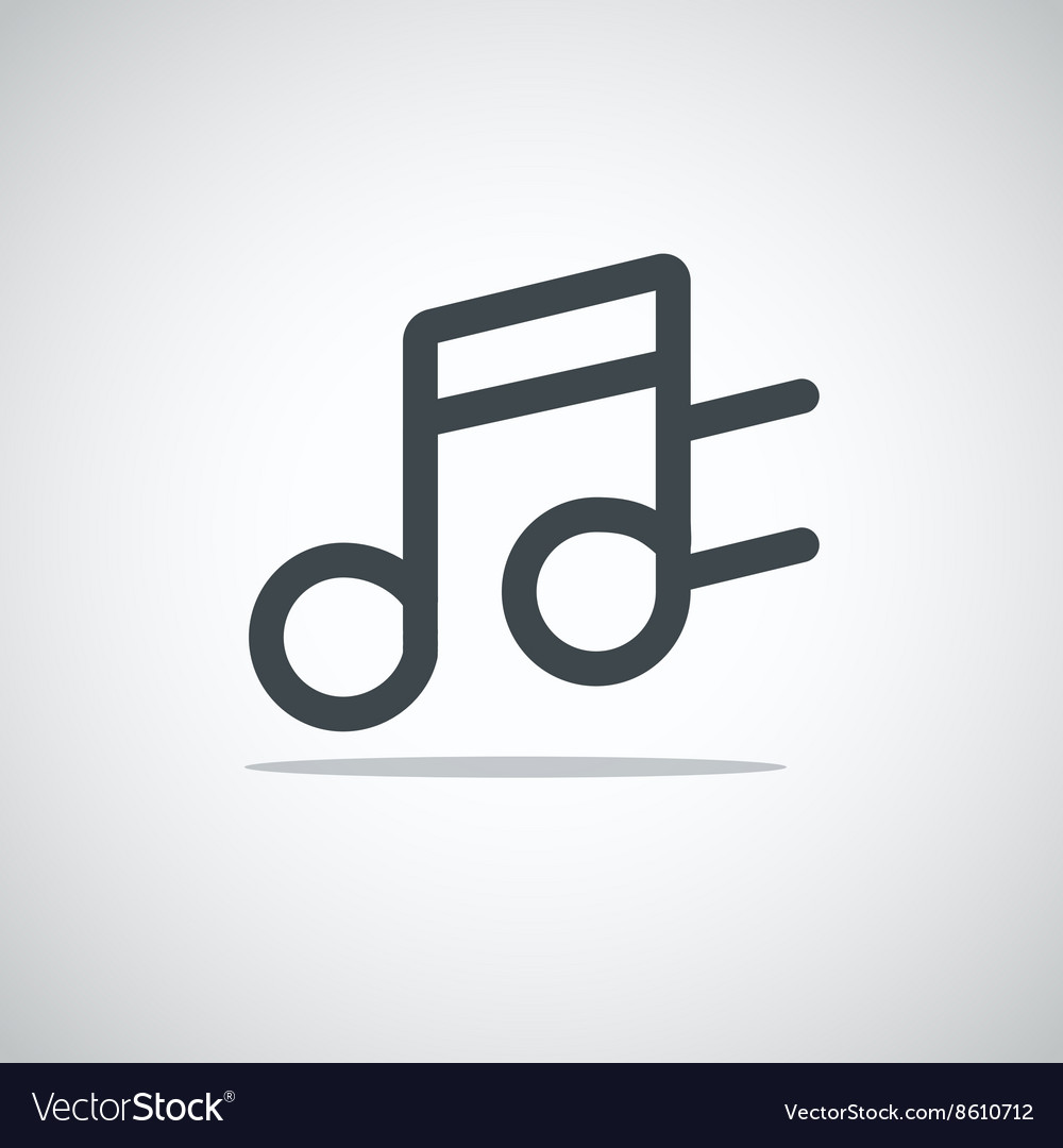 Modern media web icon Notes vector image
