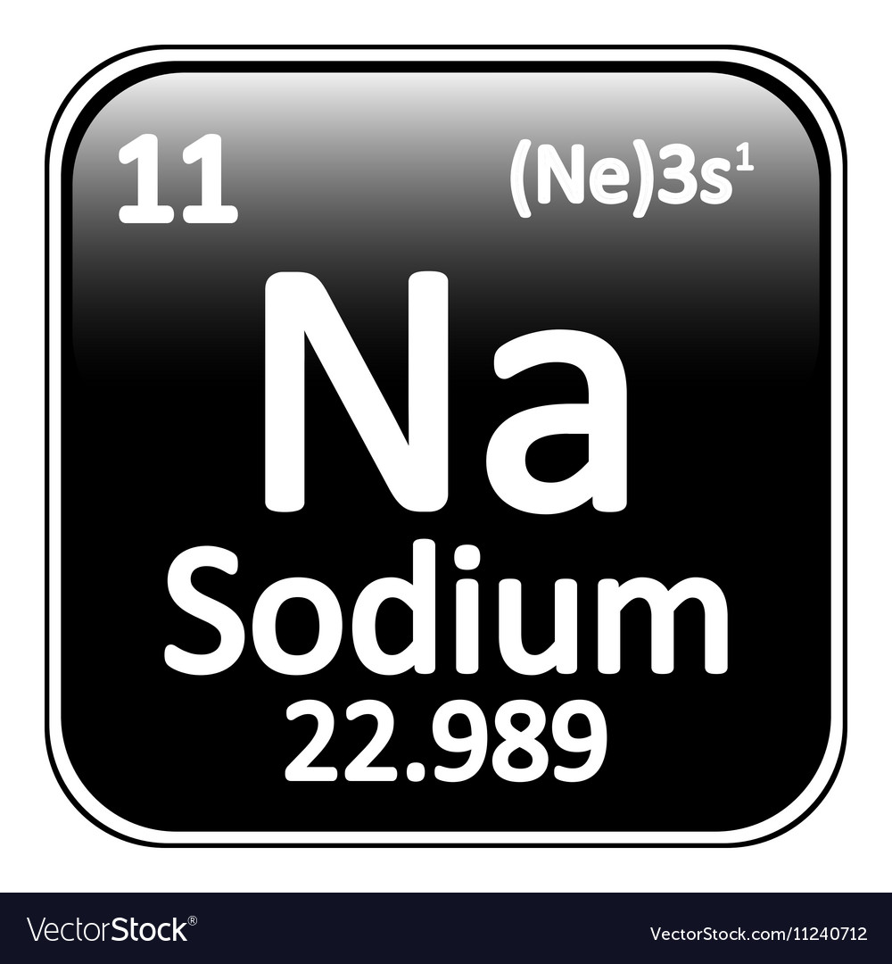 Periodic Table Element Sodium Icon Royalty Free Vector Image