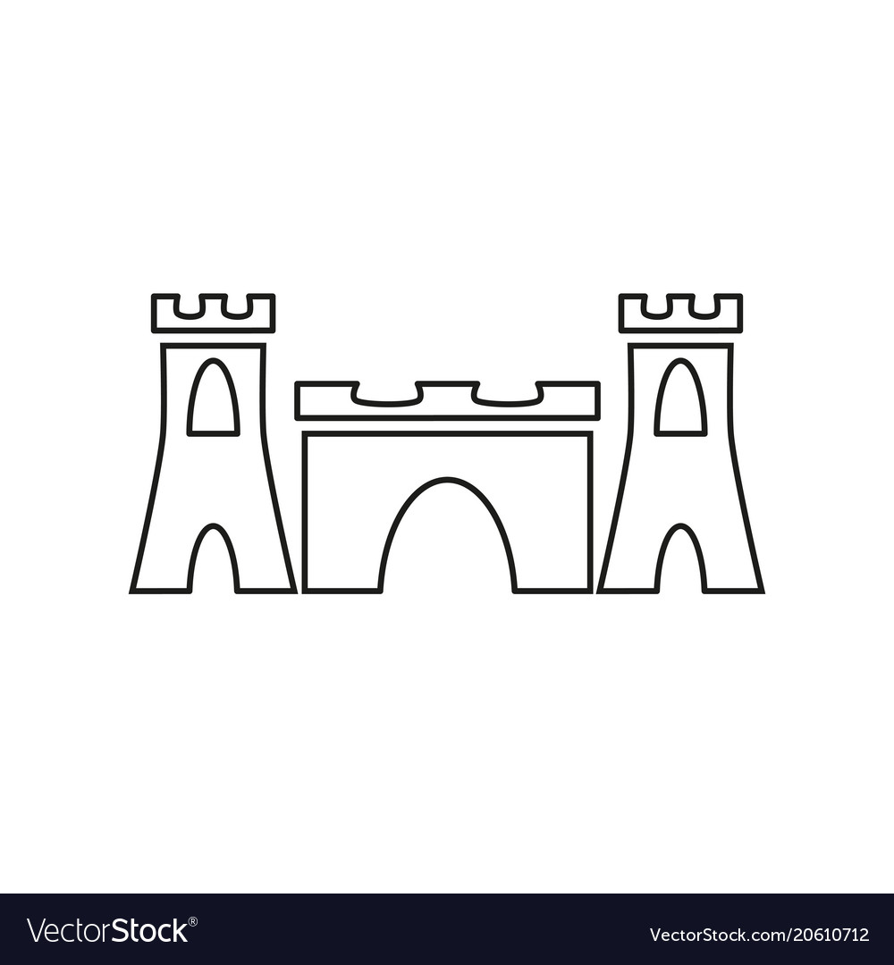 Sand castle black icon Royalty Free Vector Image