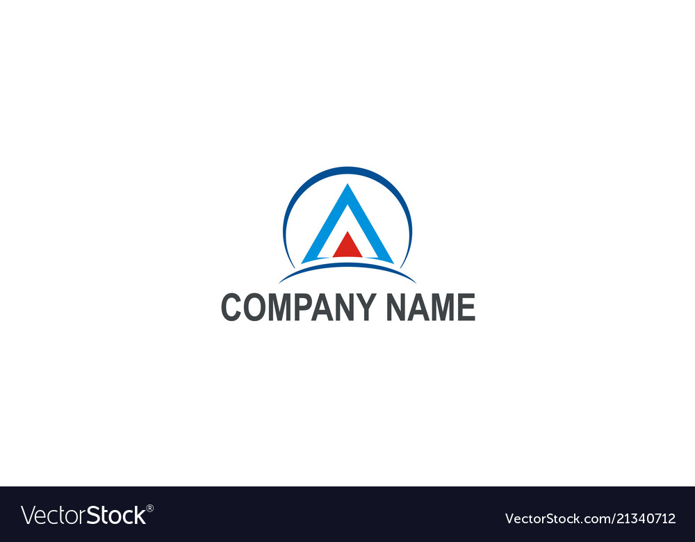 Triangle construction company logo