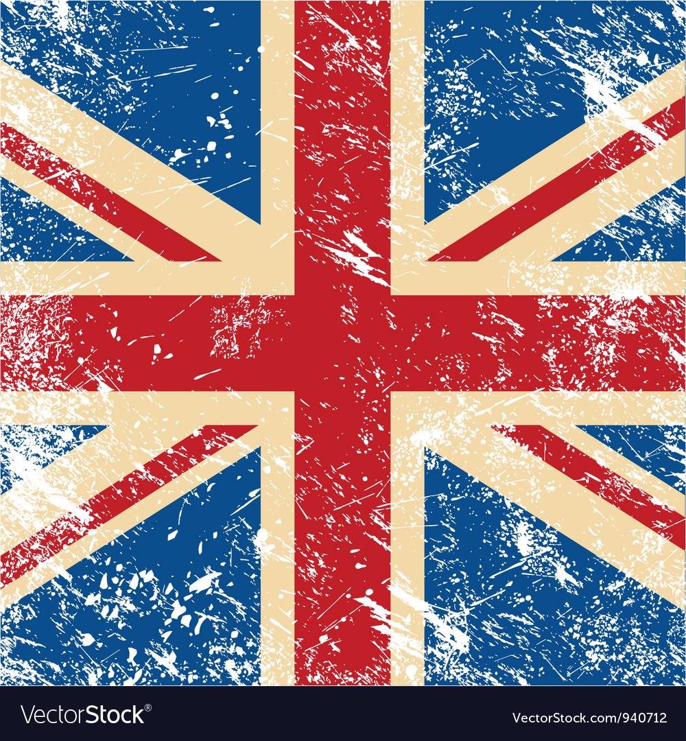 UK retro flag vector image