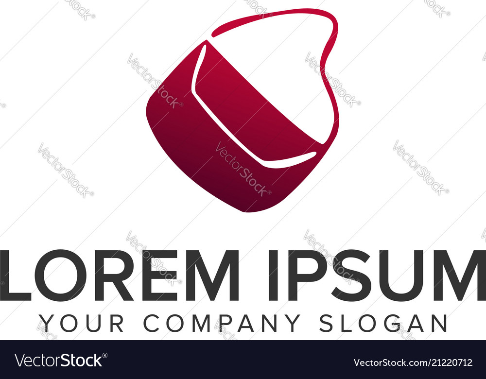 Women bag logo design concept template