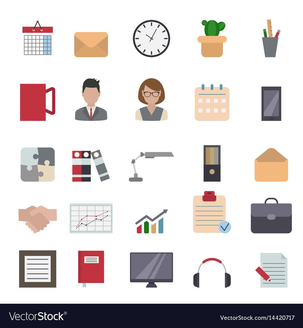 Business and office icon business and office icon vector image