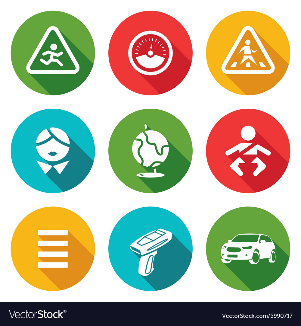 Child Safety Icons Set Royalty Free Vector Image