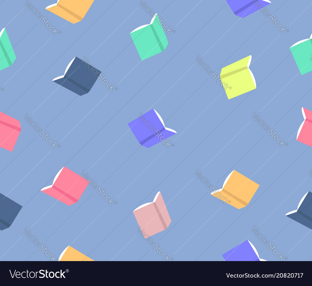 Colorful book pattern