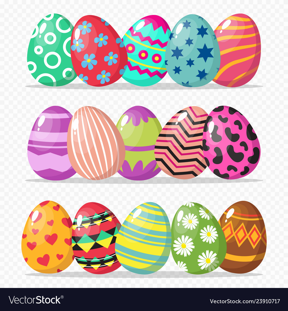 Coloring easter eggs isolated on