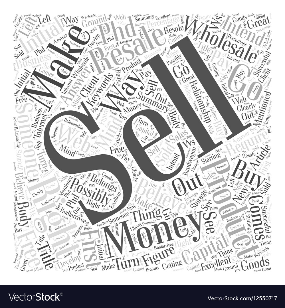 How to make money with resale rights Word Cloud