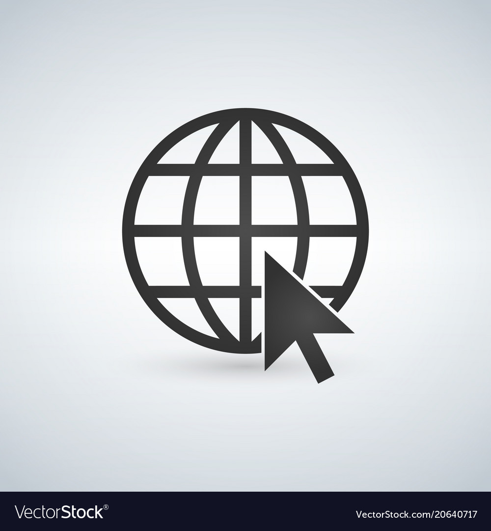 Internet icongo to web sign internet symbol globe