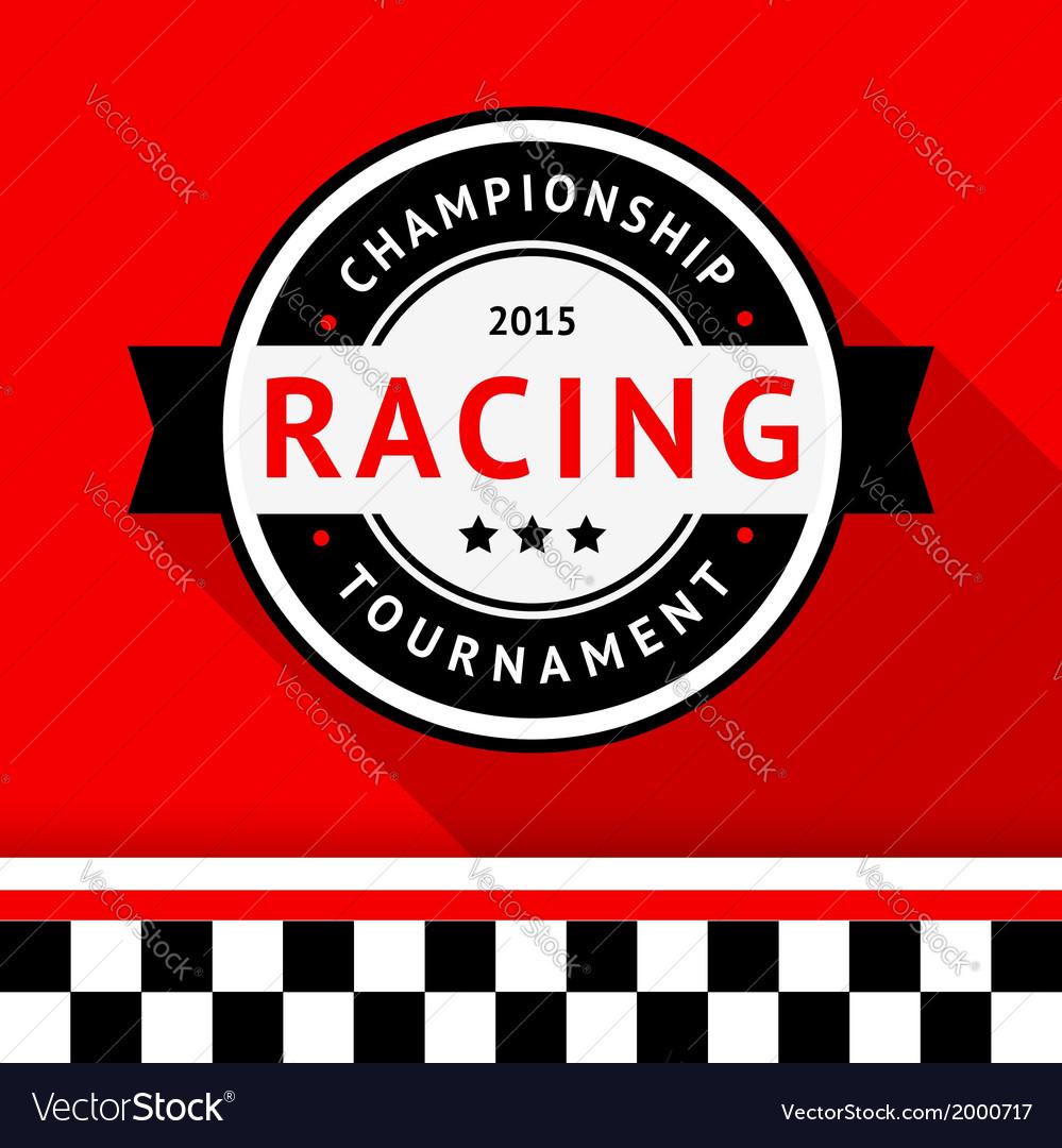 Racing badge 09 vector image