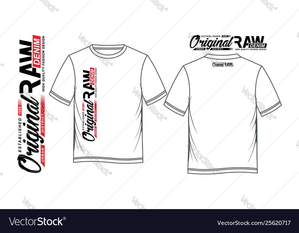 Typography denim for t shirt printing design