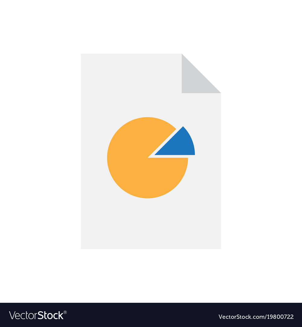 Analytics data document with pie chart