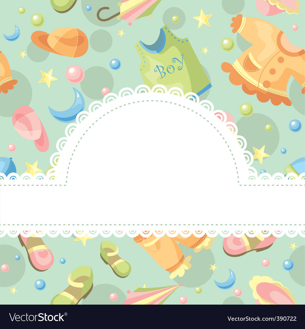 Baby background royalty free vector image vectorstock - Baby background ...