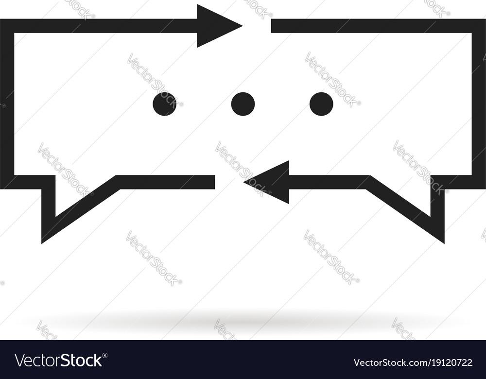 Black thin line translator logo