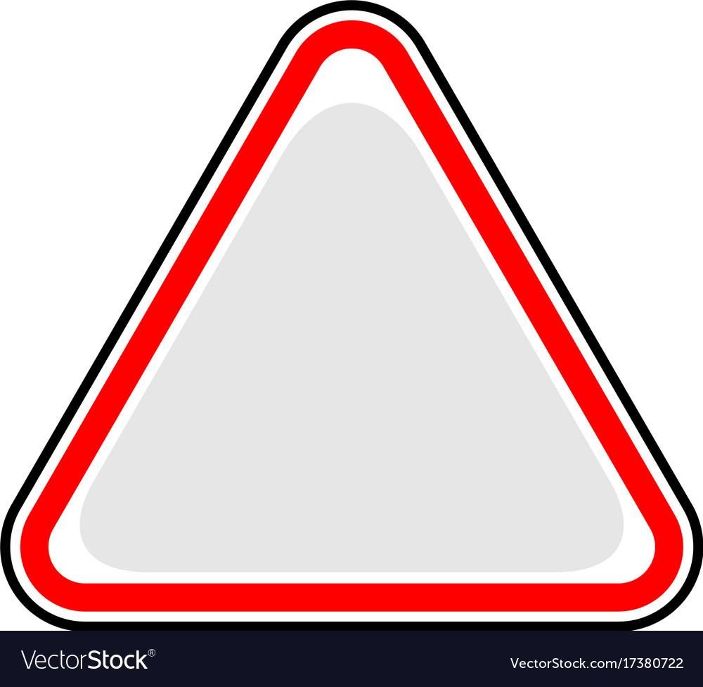 Blank sign triangular sticker
