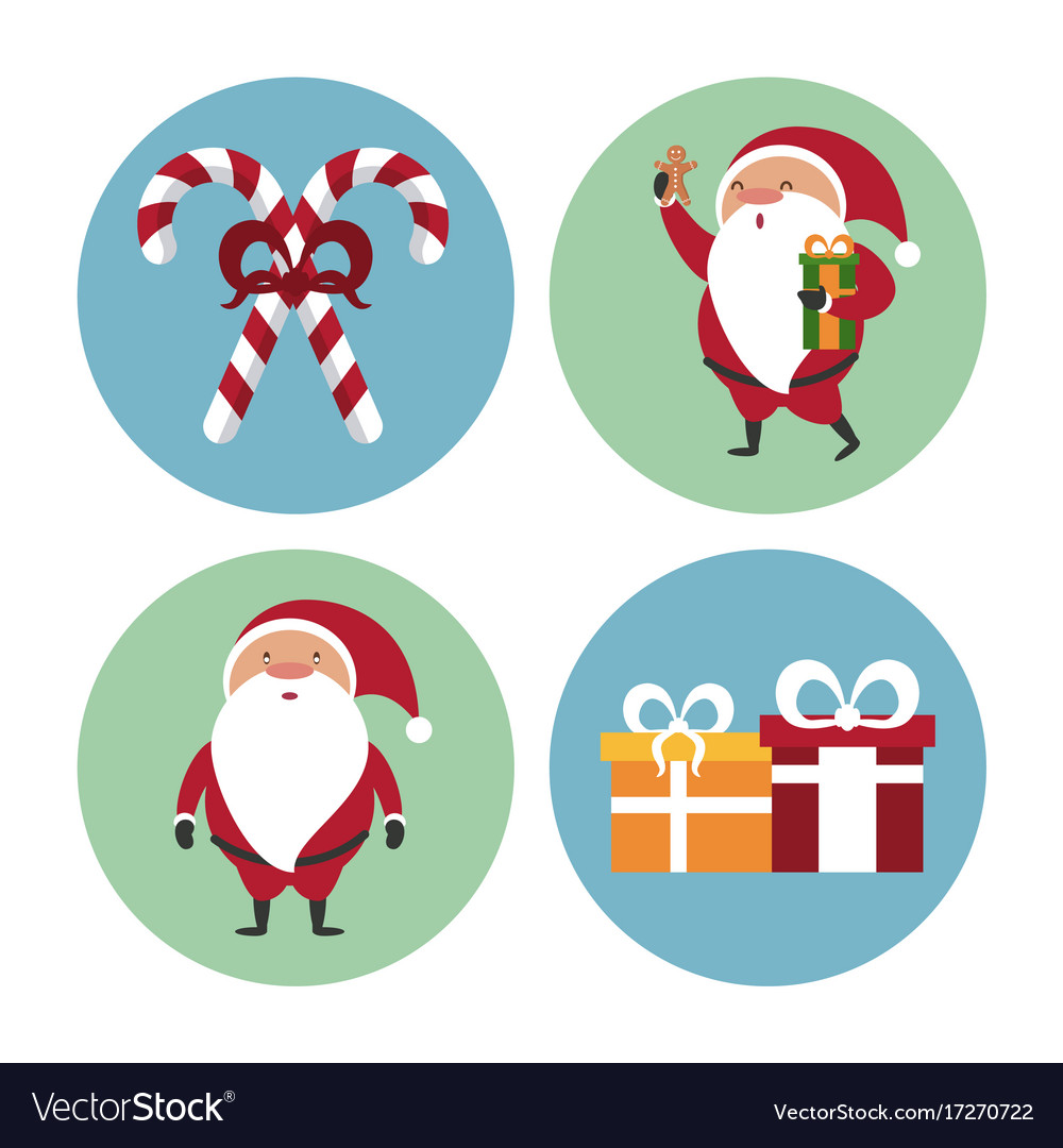 Cute christmas icons Royalty Free Vector Image