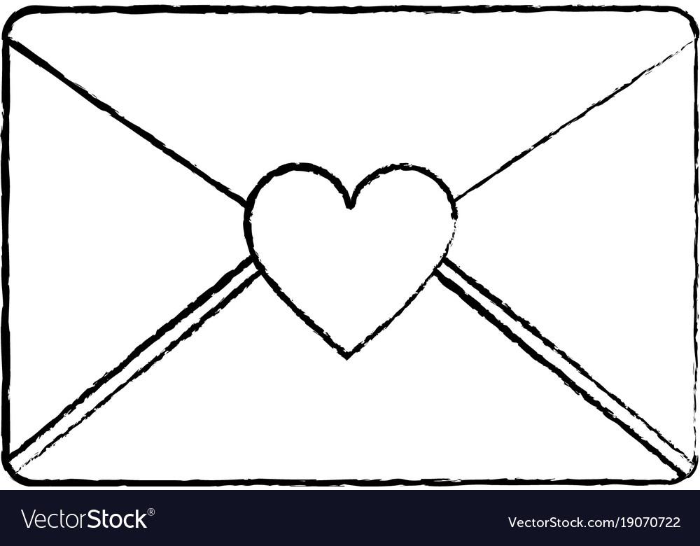 Envelope message greeting heart love romantic