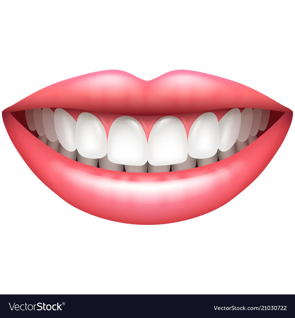 Healthy teeth beautiful woman smile isolated on