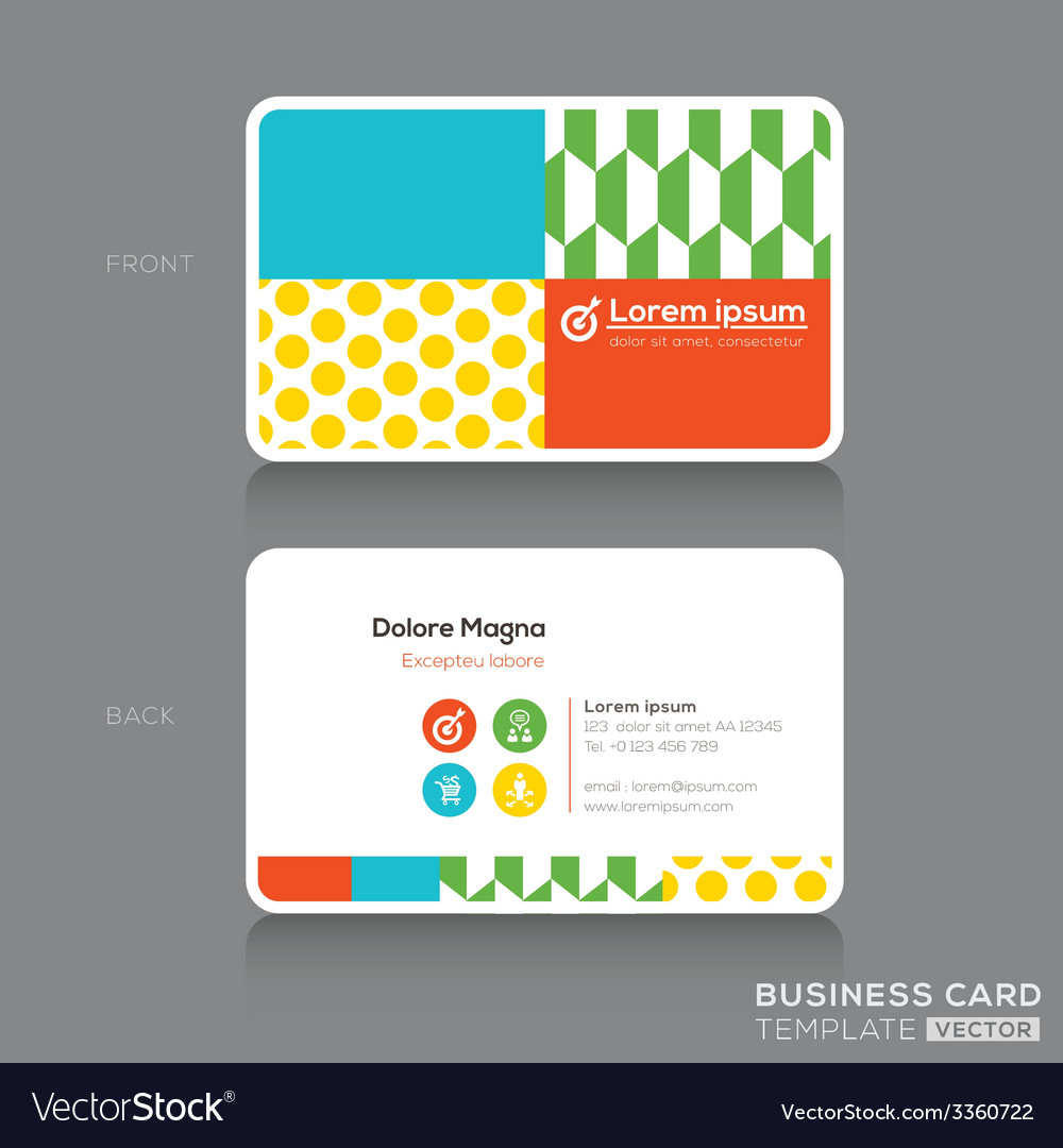 Modern trendy business card design template vector image maxwellsz
