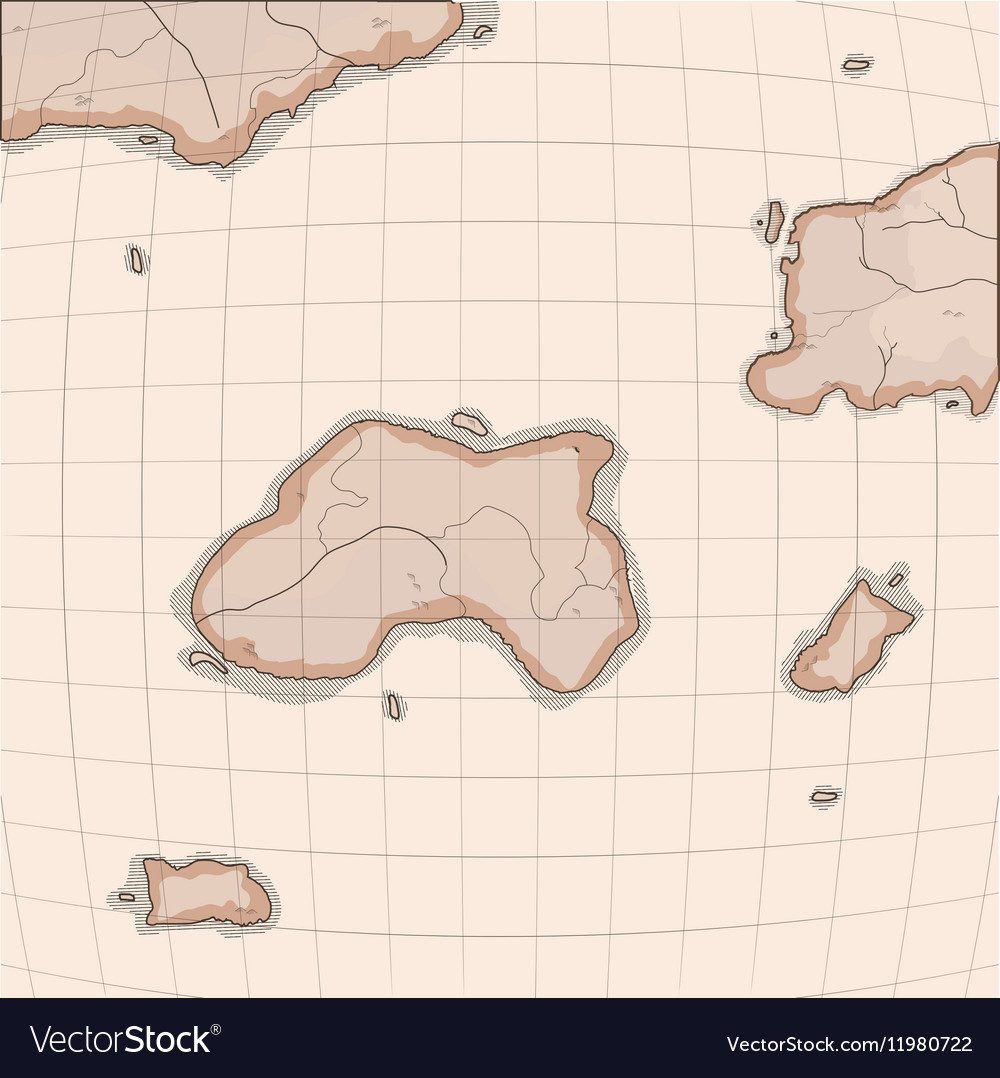 Old world map imitation