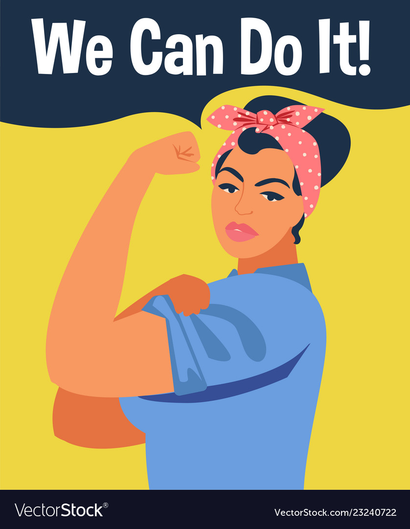 We can do it iconic womans fist symbol of female