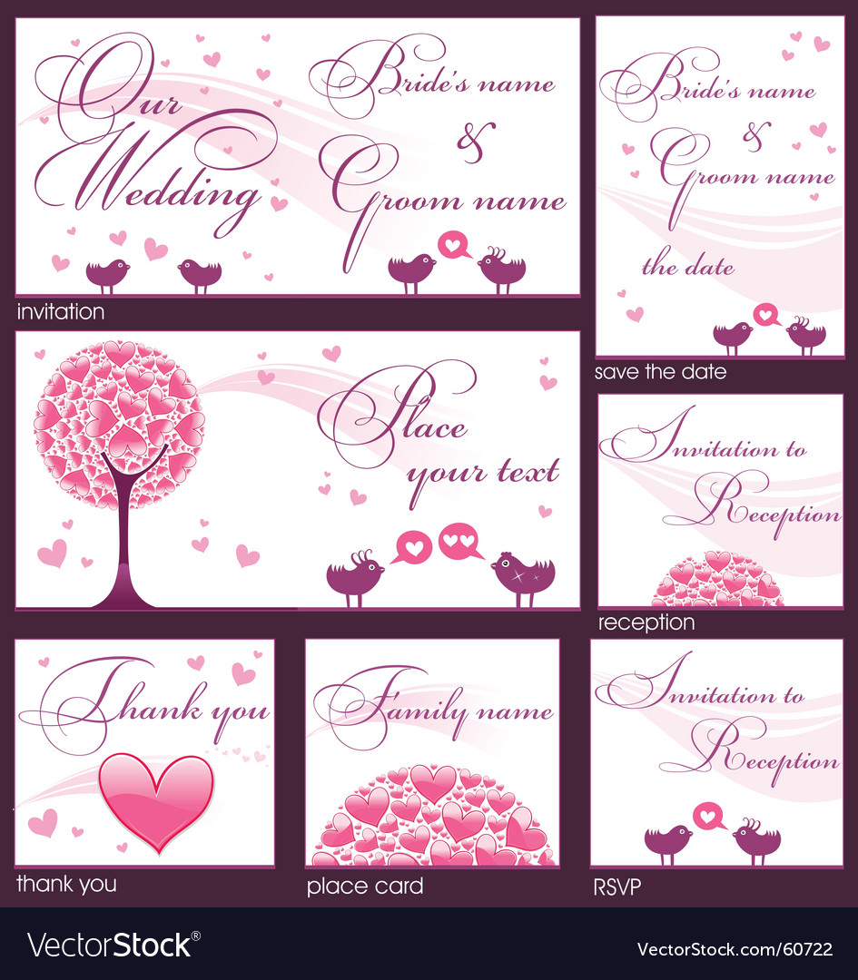 Wedding reception card royalty free vector image wedding reception card vector image stopboris Choice Image