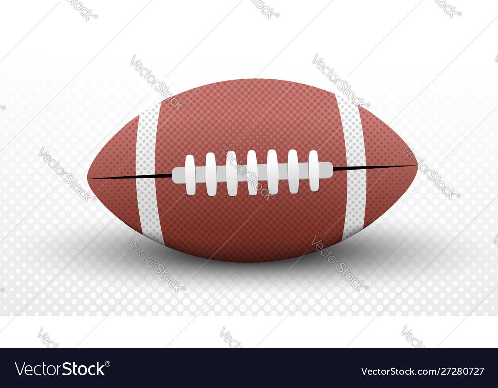 American football ball concept