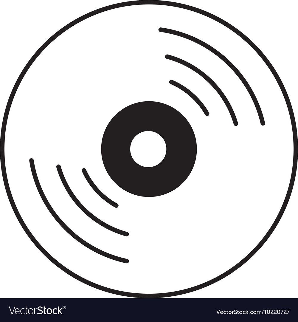 Compact disc isolated icon vector image