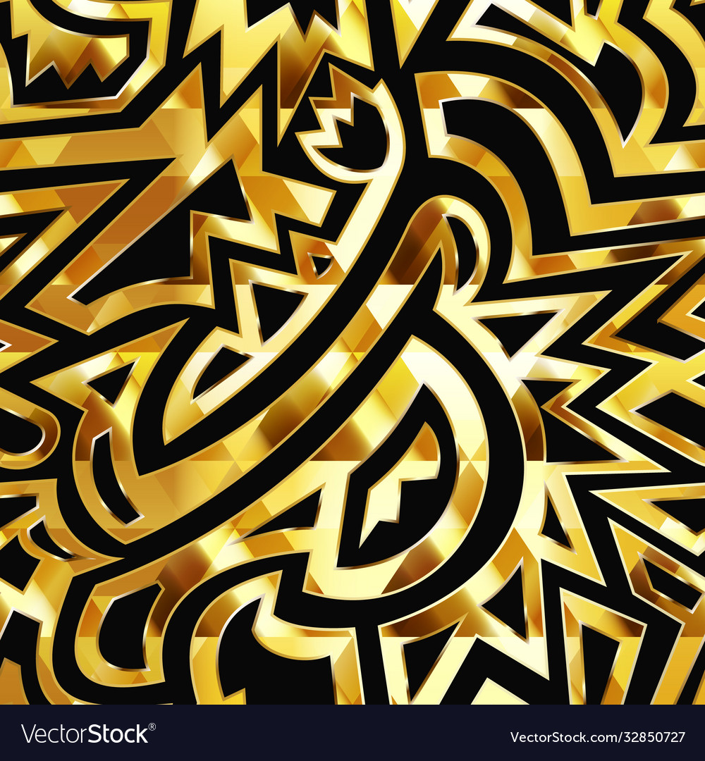 Gold tribal seamless texture