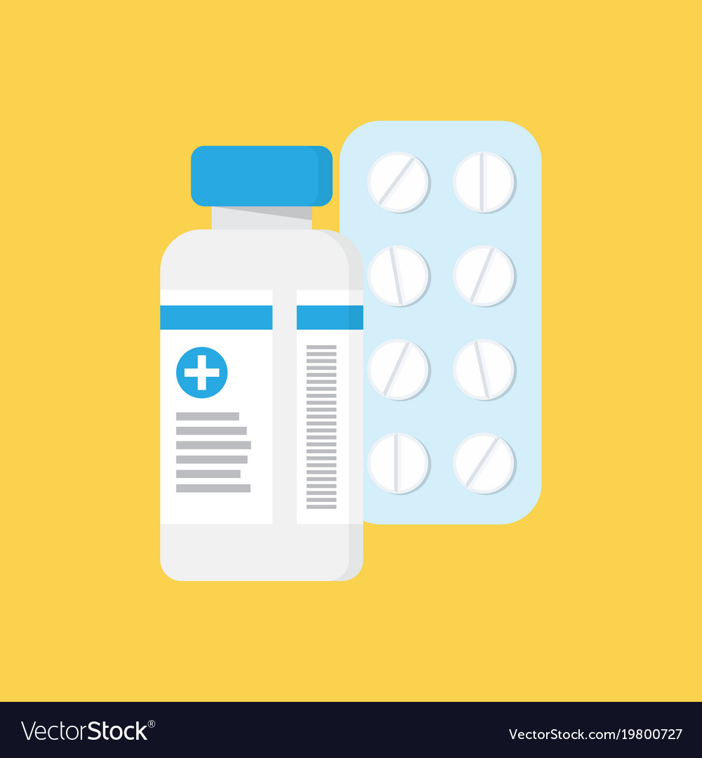 Medical container and blister with pills
