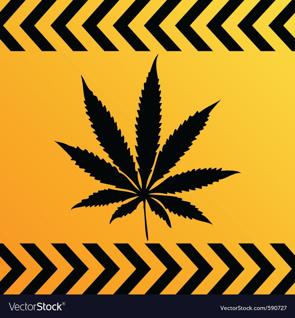 Sign of marijuana vector image