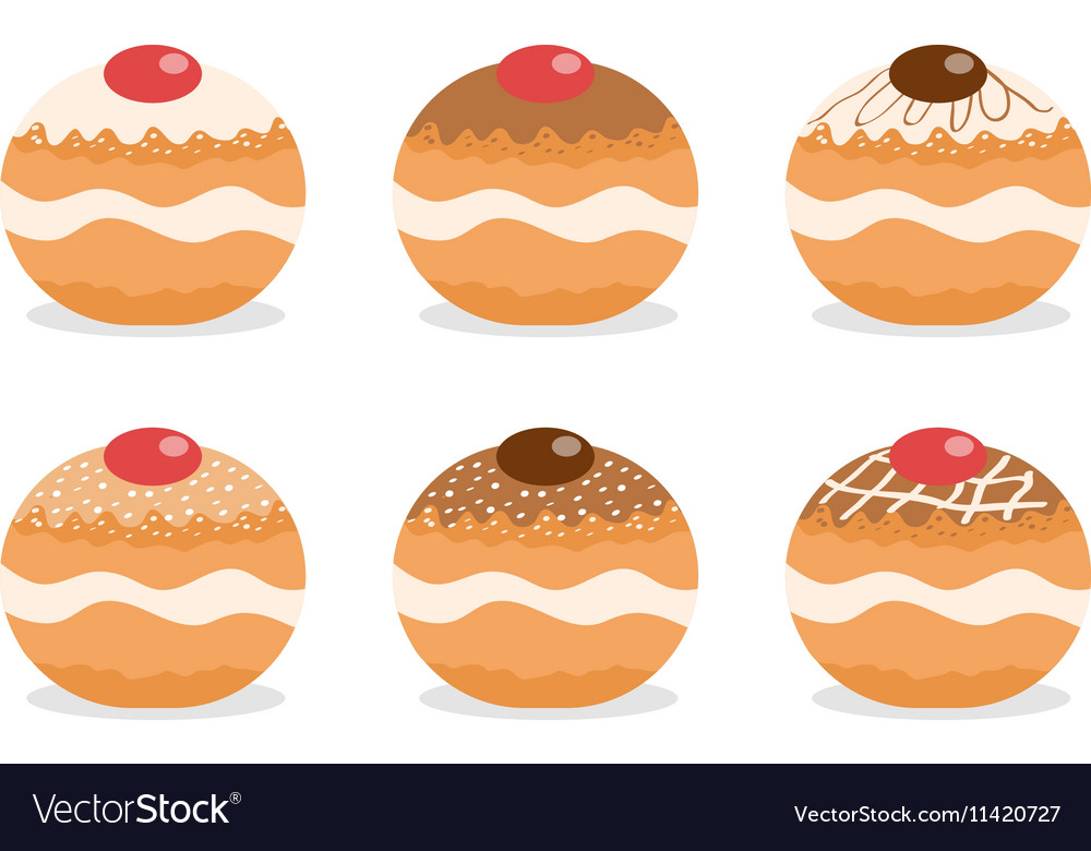 Sufganiyot set Jewish donut set Jewish
