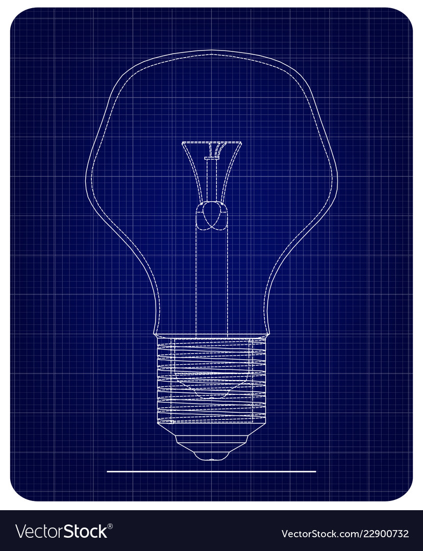3d model of the lamp on a blue vector image on VectorStock