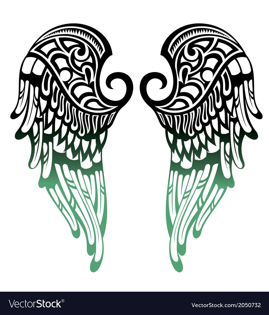 angel wings royalty free vector image vectorstock rh vectorstock com angel wing tattoo vector angel wing vector image