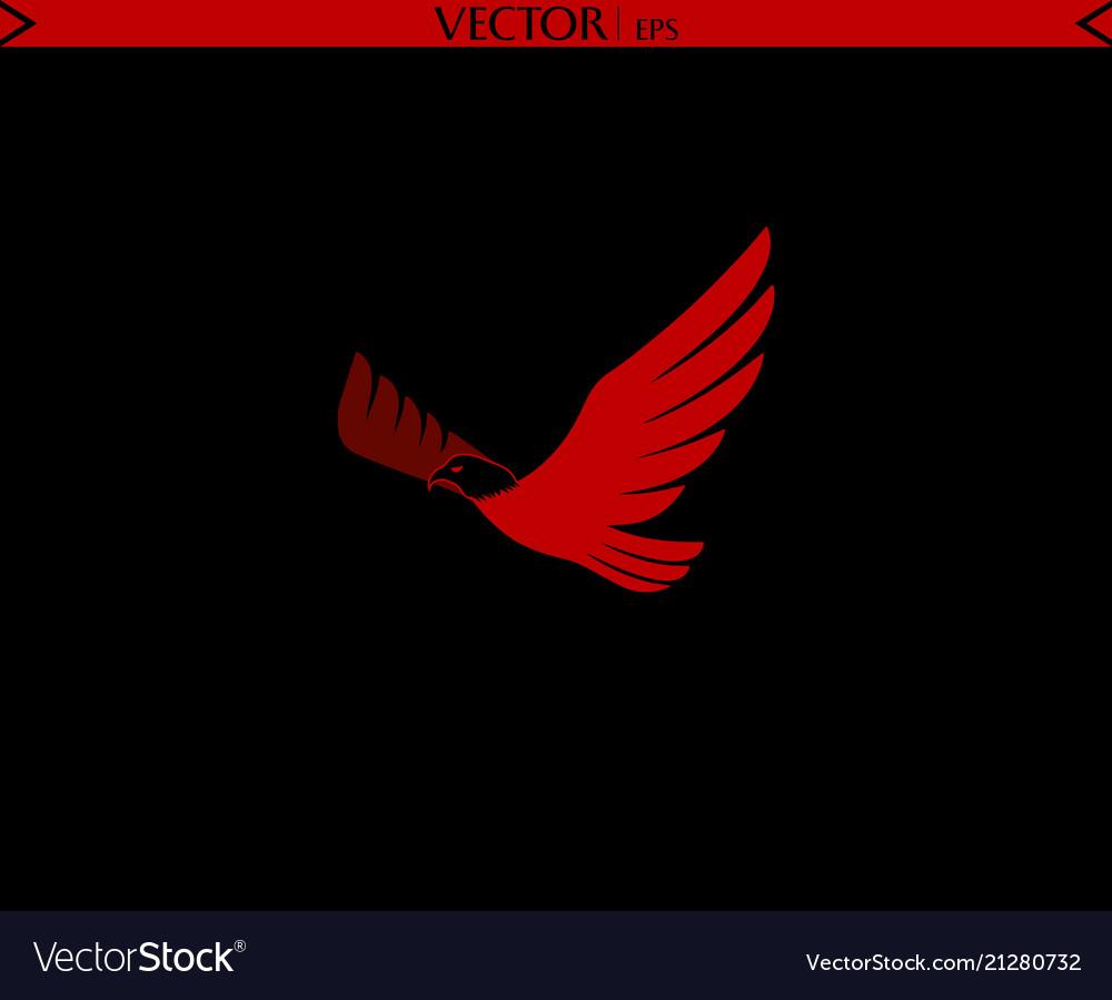 Bald eagle flying logo red logo