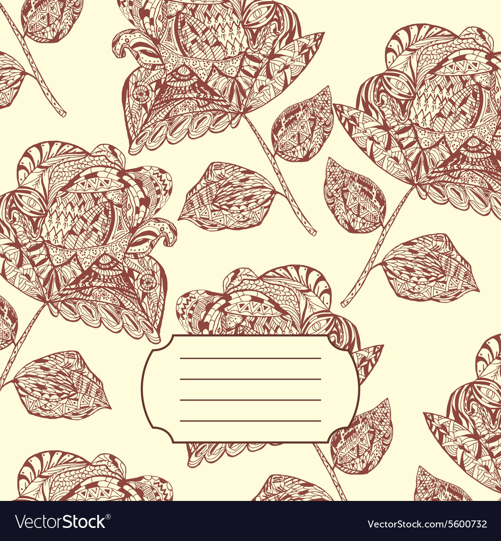 Notebook Cover With Hand Drawn Flower Pattern Vector Image