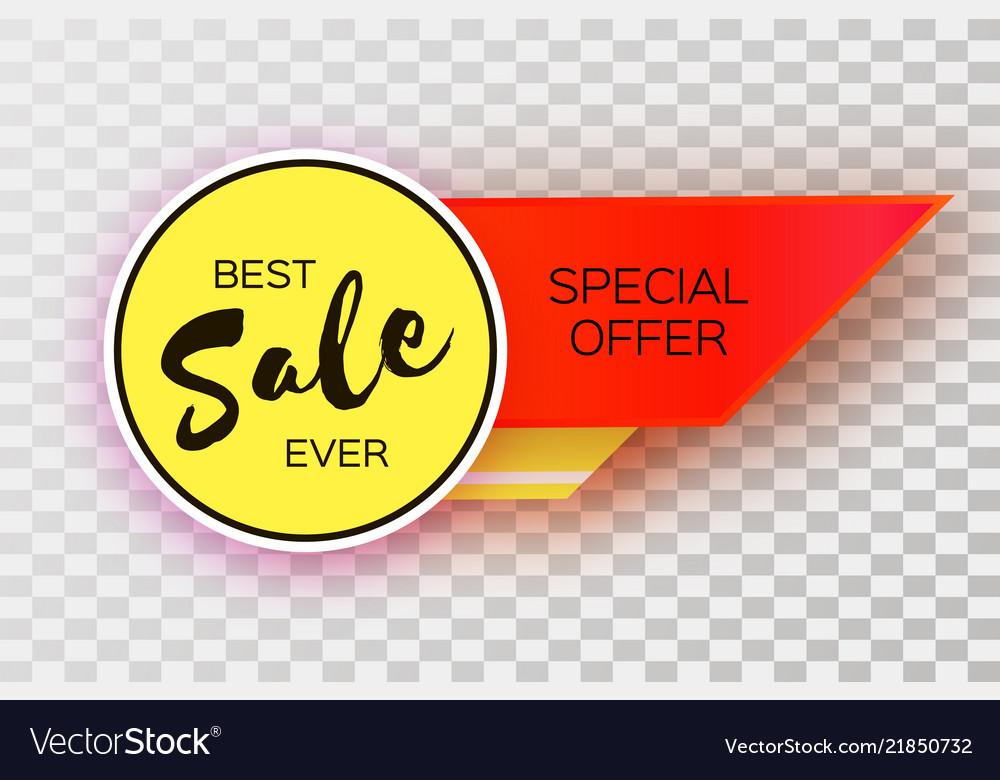 Sale banner in paper cut style origami discount