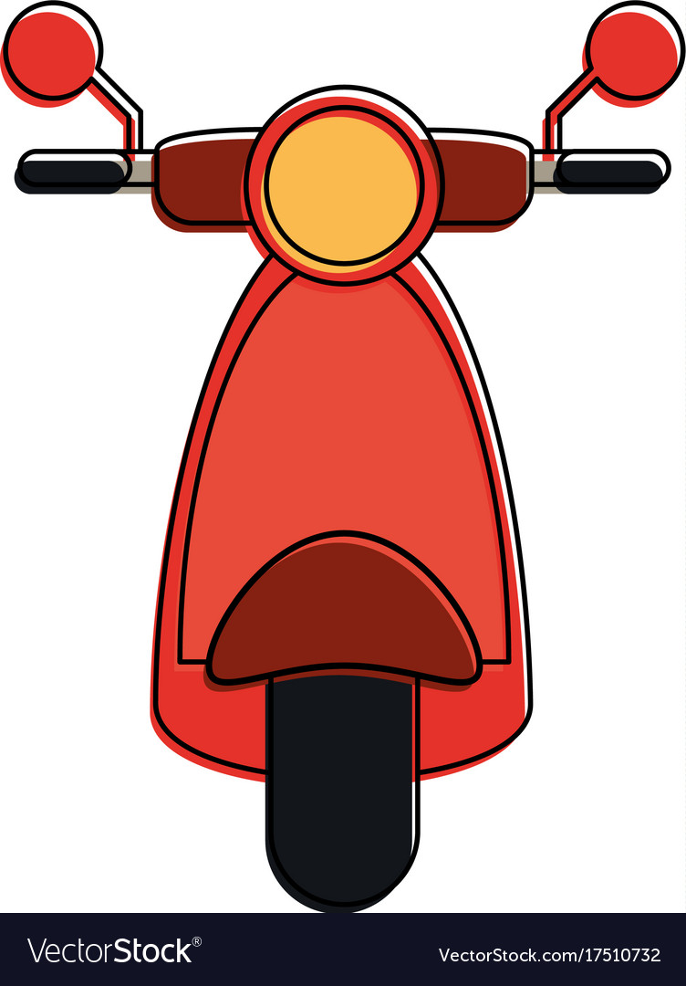 scooter motorbike frontview icon image royalty free vector vectorstock