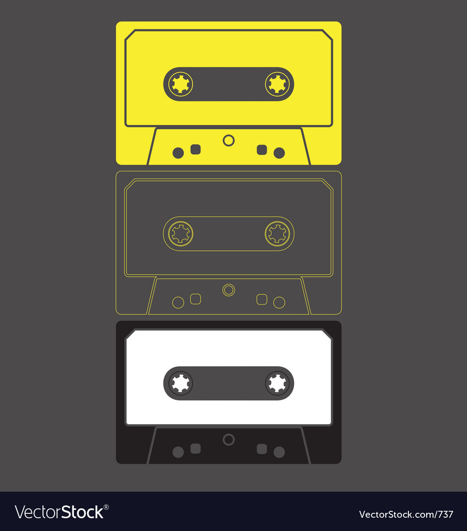 Audio cassette graphic
