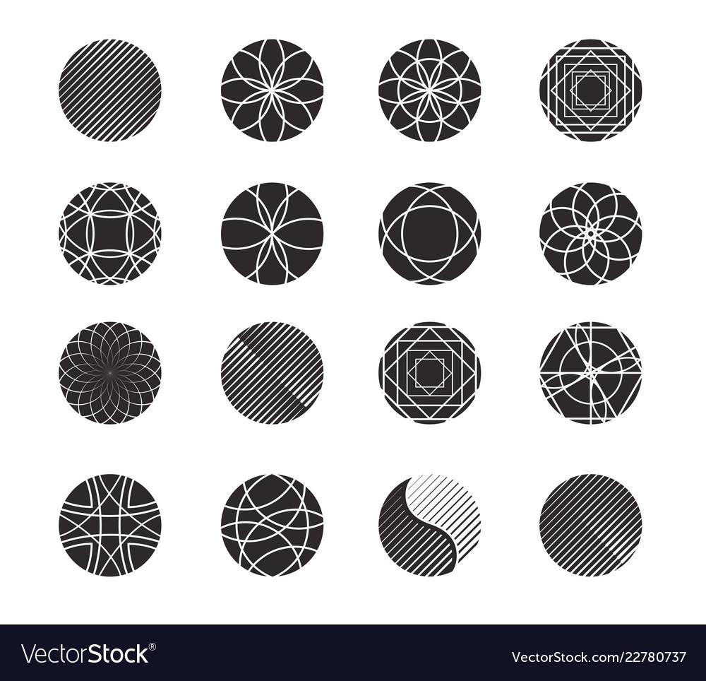 Circle shapes set for design