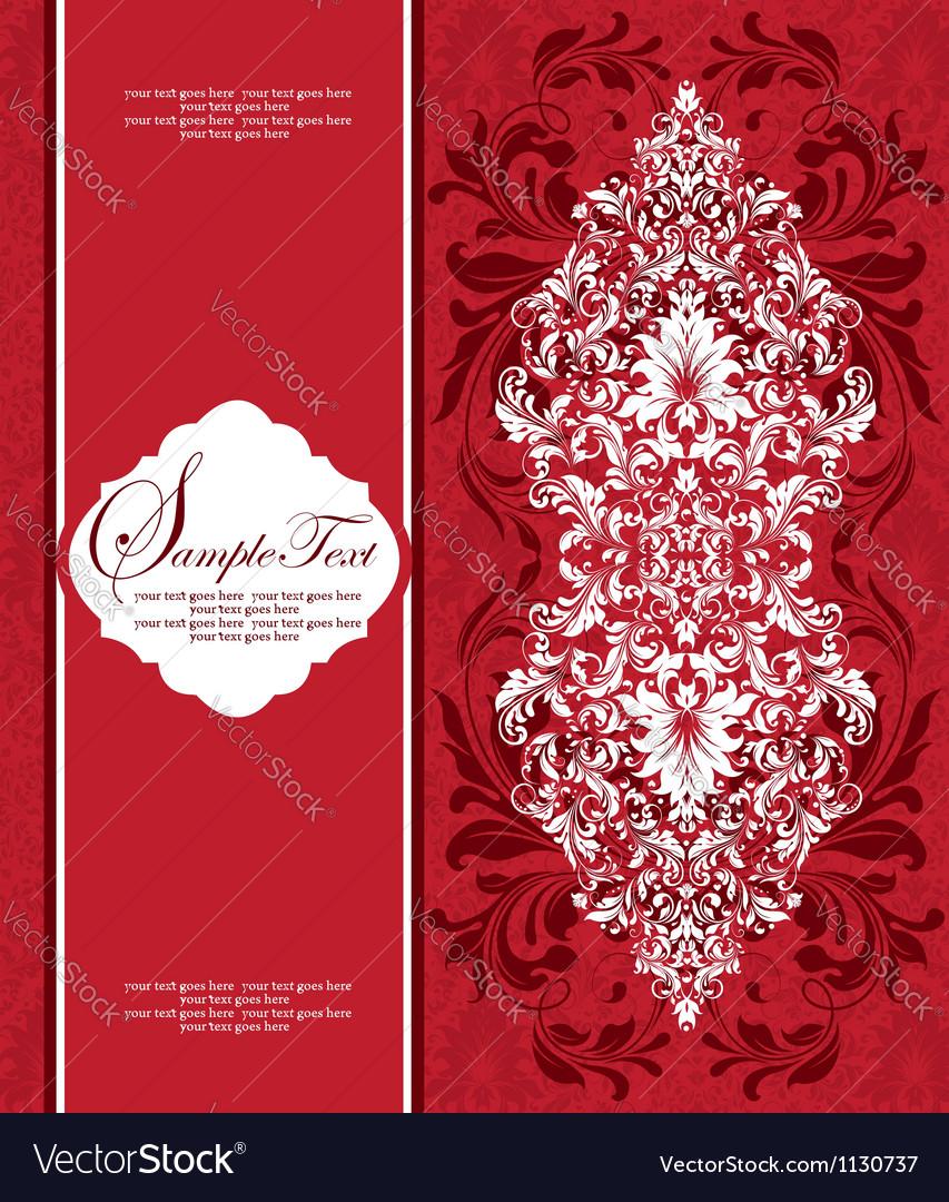 Damask floral card