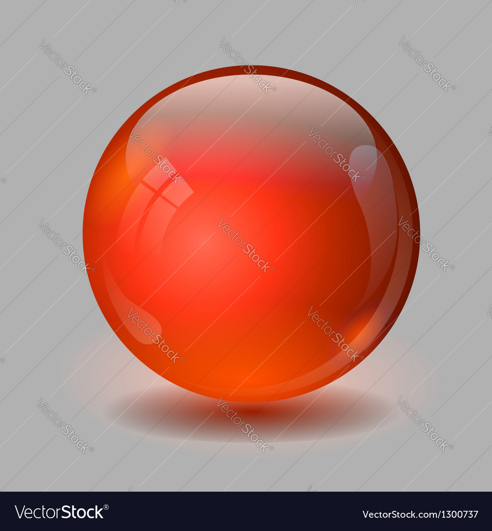 Red glass ball vector image
