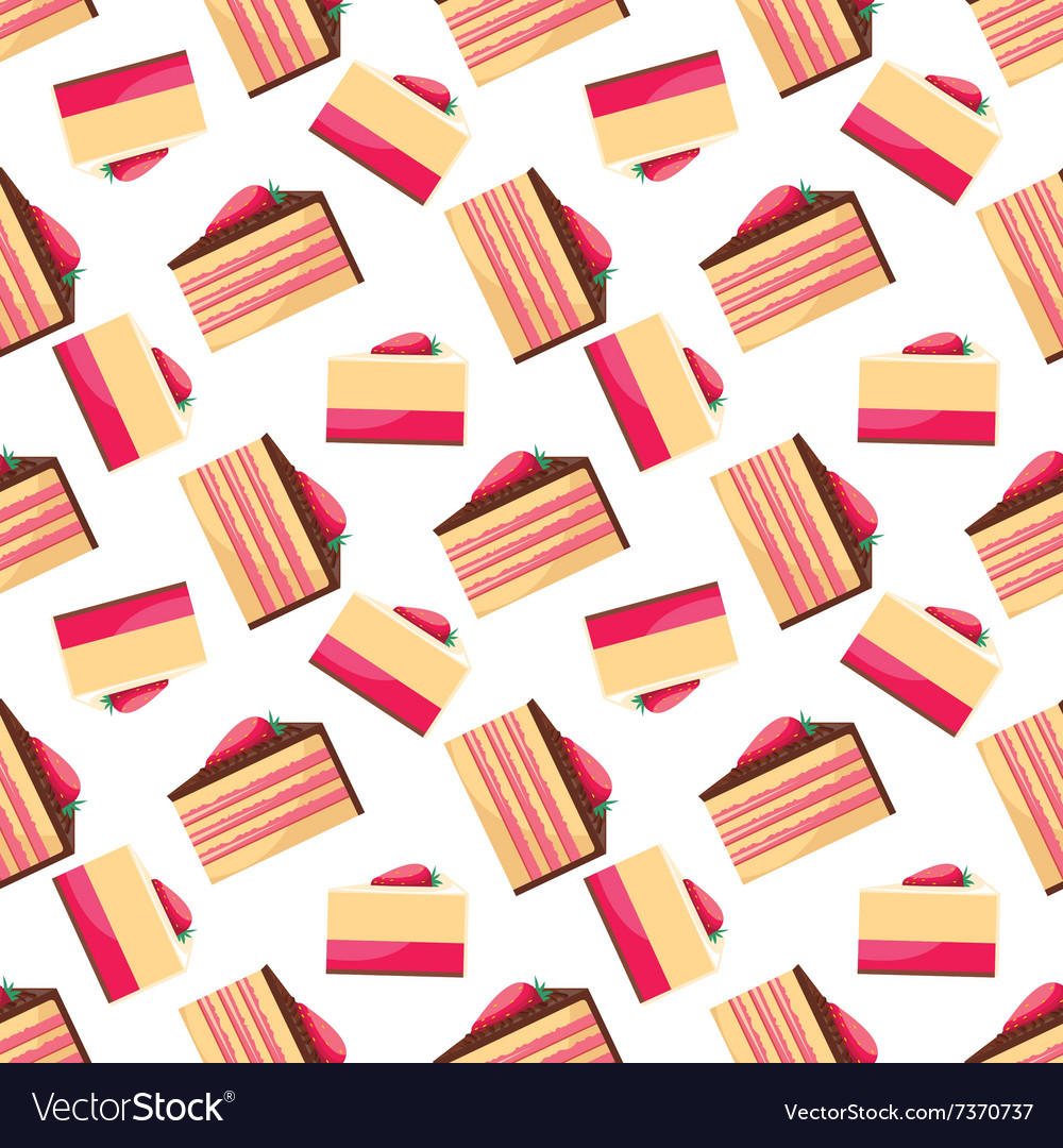 Seamless background with pattern of delicious