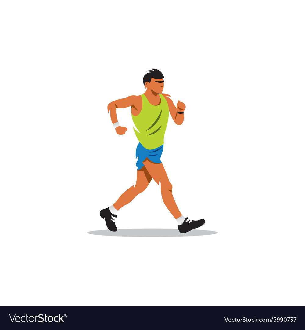 sport walking sign fitness and lifestyle concept vector image vectorstock