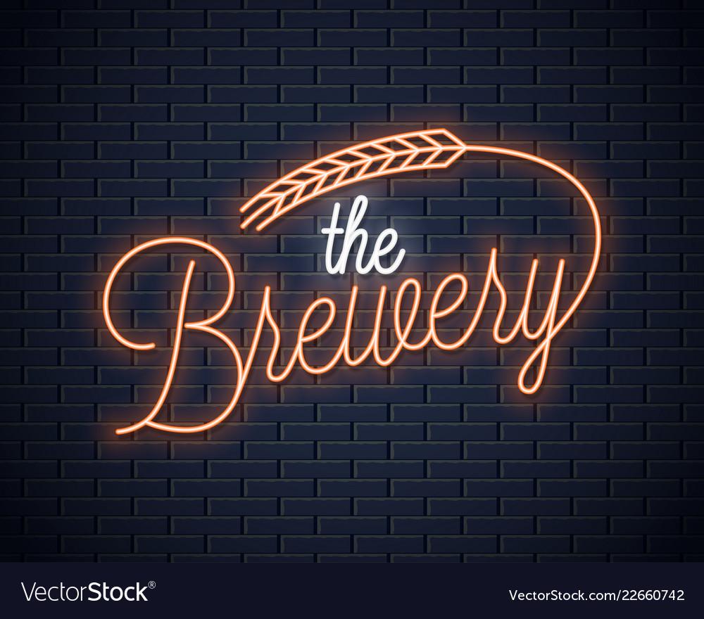 Beer vintage neon lettering brewery neon sign