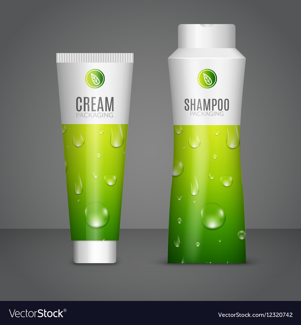 Body care cosmetics designs tubes template