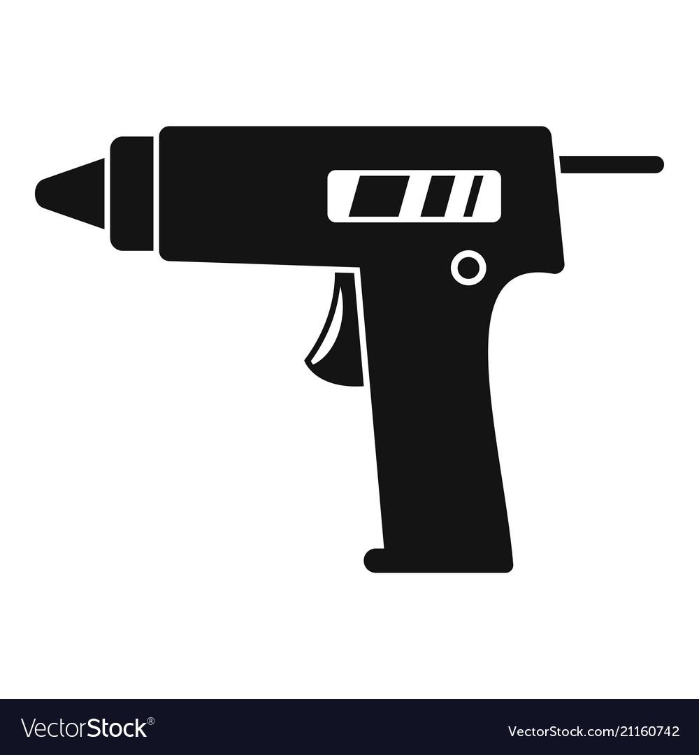 glue pistol icon simple style royalty free vector image vectorstock